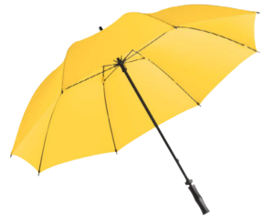 parapluie fare golf biplace jaune