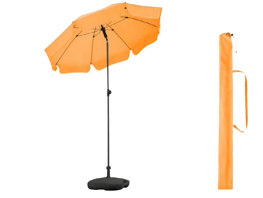 parasol orange parapluie été fare
